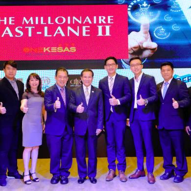 """เมอร์คคอร์ป จับมือ เคเอ็ม แลนด์ เดินหน้าโครงการ """"MILLIONAIRE FAST-LANE II ONE KESAS"""" 15 -"""