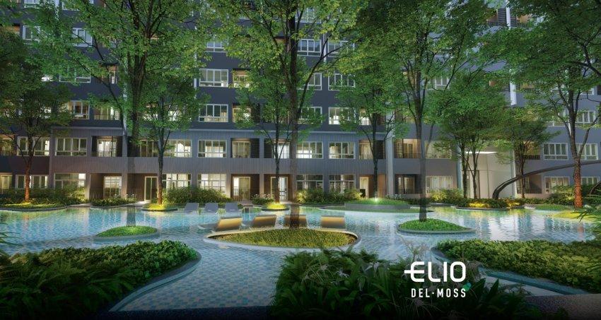 exterior 01 Elio Del Moss คอนโดแถว ม.เกษตร ที่ส่วนกลางใหญ่ที่สุด แต่งครบ มี Co Working แต่เริ่ม 1.69 ล้าน