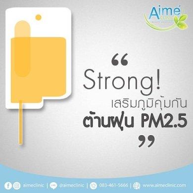 สตรอง เสริมภูมิคุ้มกัน ต้าน ฝุ่น PM 2.5 15 -