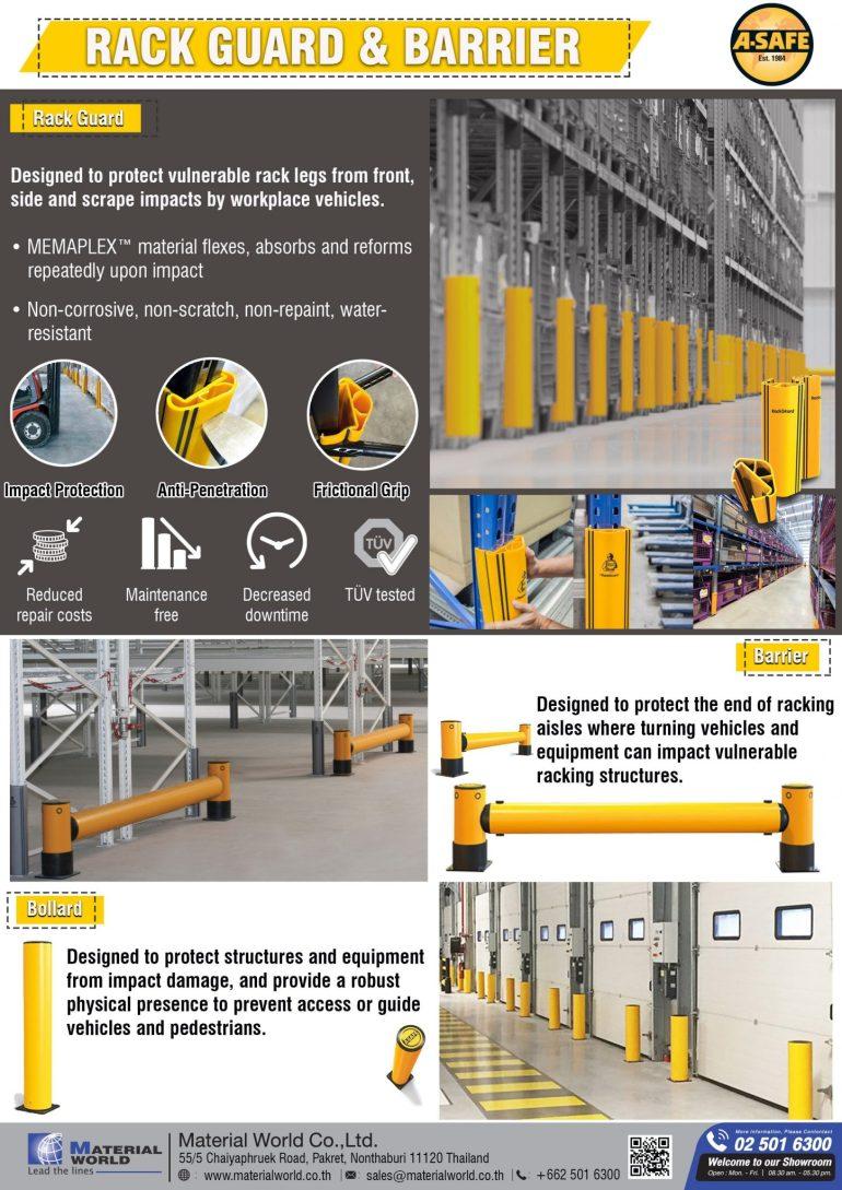 อุปกรณ์ป้องกันชั้นวางสินค้าอุตสาหกรรม และพื้นที่อาคาร Rack Guard & Barrier 13 -