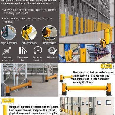 อุปกรณ์ป้องกันชั้นวางสินค้าอุตสาหกรรม และพื้นที่อาคาร Rack Guard & Barrier 15 -