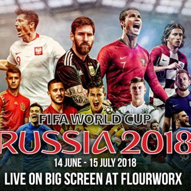 FIFA World Cup 2018 Live at FlourWorx Café - Pullman Bangkok Grande Sukhumvit 14 -