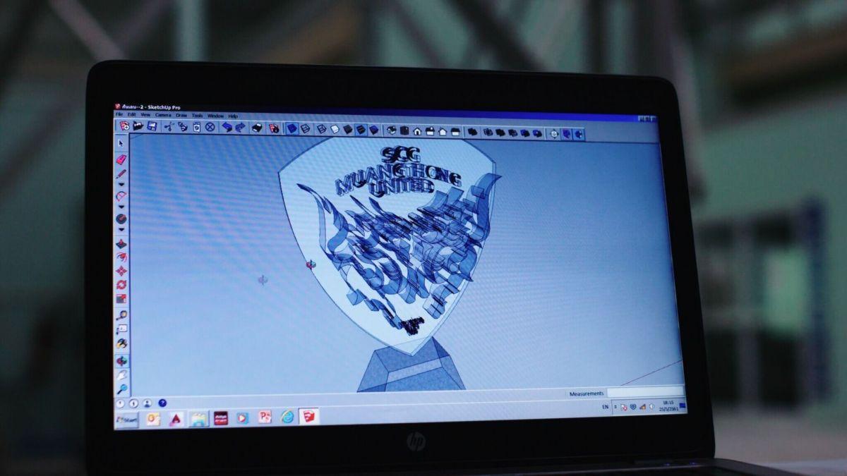 เอสซีจี เมืองทอง ยูไนเต็ด สร้างแลนด์มาร์คโลโก้กิเลนผยองด้วยเทคโนโลยี 3D Cement Printing ของ เอสซีจี 15 - 3D Printing