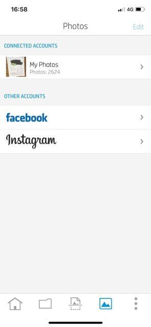 ดึงรูปจาก facebook และ instagram มาปริ้นต์ได้เลย