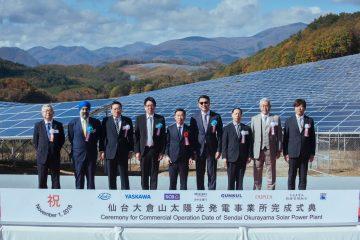 GUNKUL เดินเครื่องสตาร์ทโรงไฟฟ้าโซลาร์ฟาร์ม เซ็นได ประเทศญี่ปุ่น กำลังการผลิต 38 MW 8 -