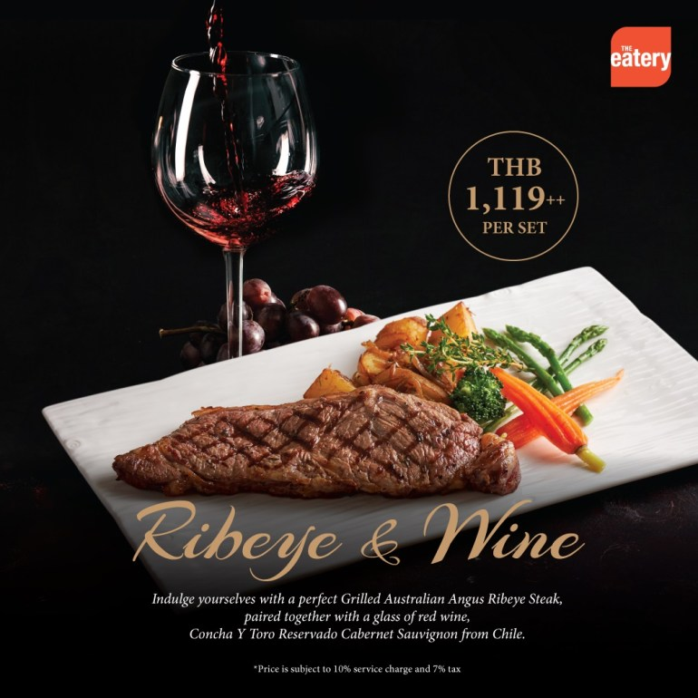 Ribeye & Wine at The Eatery Four Points by Sheraton Bangkok, Sukhumvit 15 13 -
