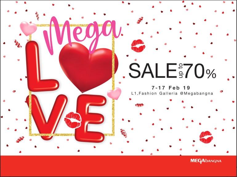 """เติมความรักให้กัน ต้อนรับเทศกาลวาเลนไทน์ ในงาน """"เมกา เลิฟ เซลล์"""" (Mega Love Sale) ลดสูงสุดถึง 70% ระหว่างวันที่ 7 – 17 กุมภาพันธ์ 2562 13 - Megabangna (เมกาบางนา)"""