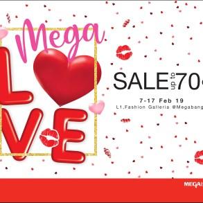 """เติมความรักให้กัน ต้อนรับเทศกาลวาเลนไทน์  ในงาน """"เมกา เลิฟ เซลล์"""" (Mega Love Sale) ลดสูงสุดถึง 70%  ระหว่างวันที่ 7 – 17 กุมภาพันธ์ 2562 17 - Mega Love Sale"""