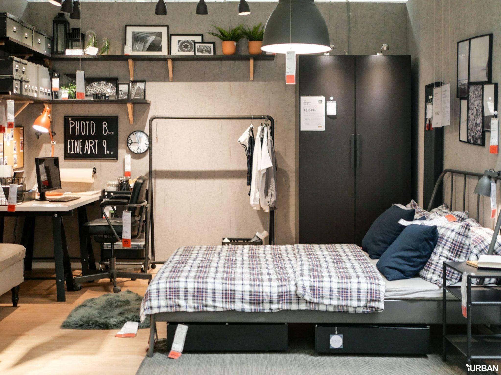 """9 วิธีจัดห้องเก่าให้เหมือนใหม่ ลอกวิธีจัดห้องในพื้นที่เล็ก """"Small Space"""" แบบ IKEA 115 - Bedroom"""