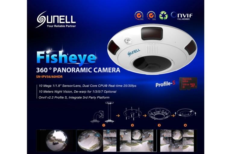 Sunell Fisheye กล้องวงจรปิดพาโนรามาเลนส์ฟิชอายส์มัลติฟังก์ชั่นสุดล้ำ 13 -