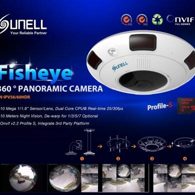 Sunell Fisheye กล้องวงจรปิดพาโนรามาเลนส์ฟิชอายส์มัลติฟังก์ชั่นสุดล้ำ 41 -
