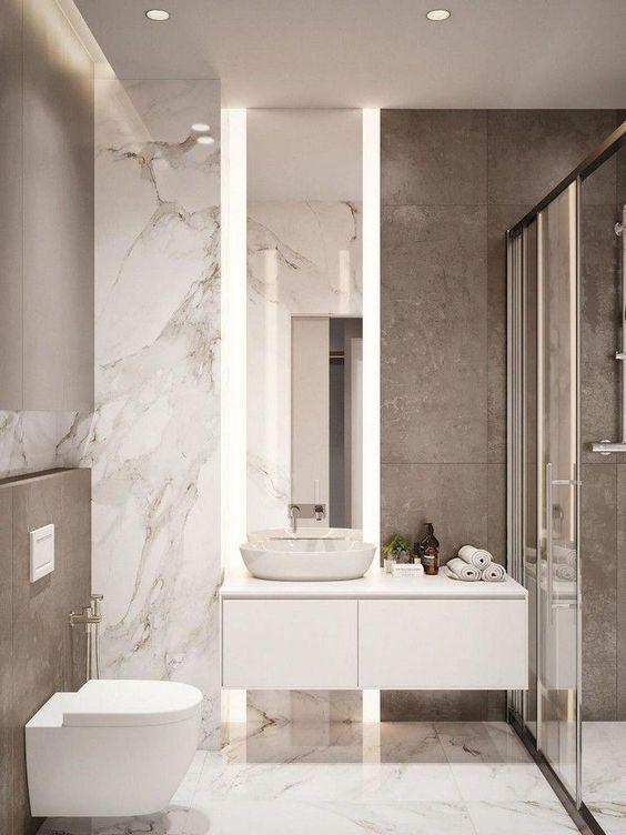 """4 ขั้นตอน """"รีโนเวทห้องน้ำขนาดเล็ก"""" ให้สวยใหม่ จบงานไวใน 2 วัน แบบปูกระเบื้องทับ ไม่ต้องรื้อ 19 - bathroom"""