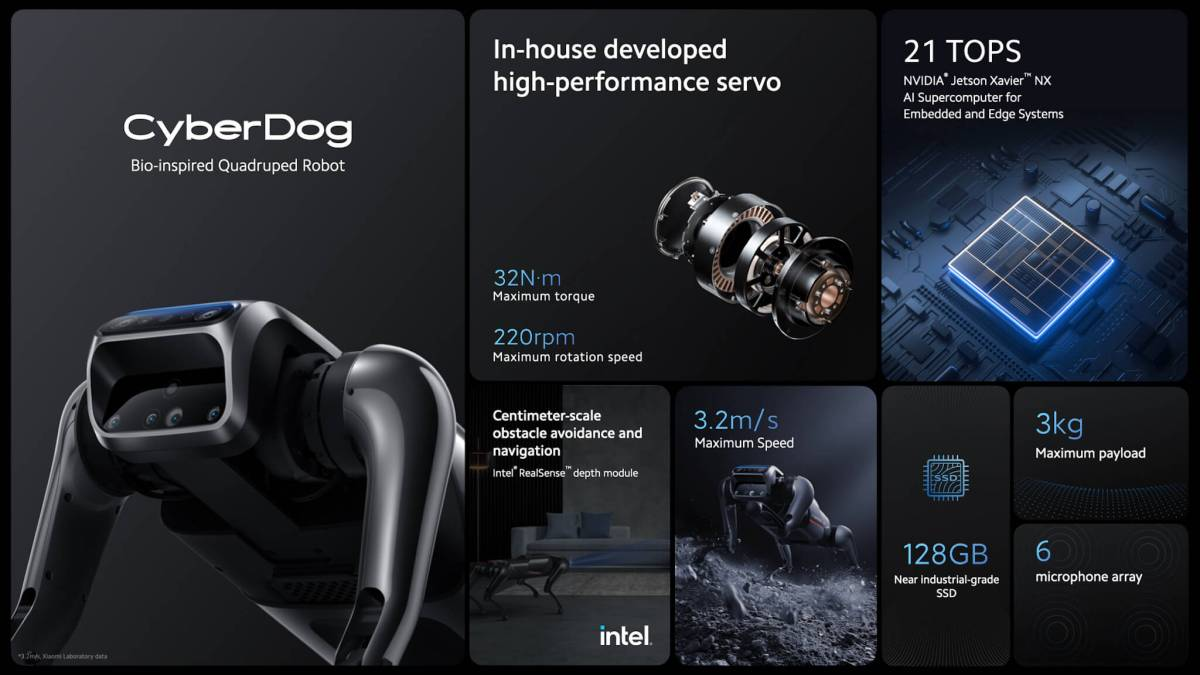 CyberDog จัดเต็มมาแบบ Xiaomi ไม่มีกั้กเลย technology มาเต็ม ระบบ Ai ด้วย
