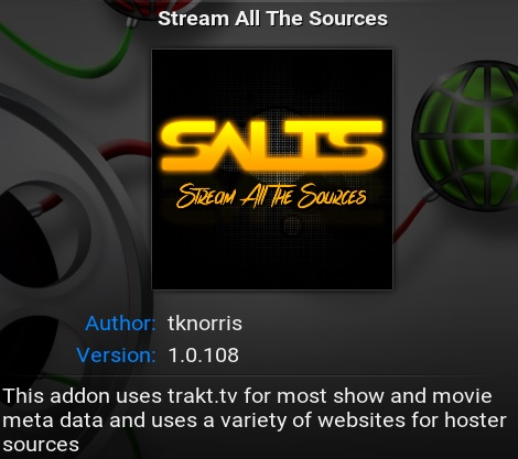 Salts addon for Kodi