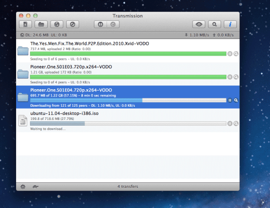 transmission mac torrent client