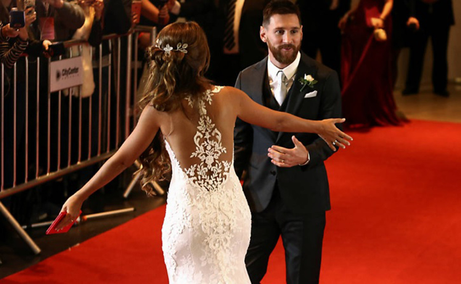 Vestido de Noiva RJ  A Noiva do jogador Lionel Messi