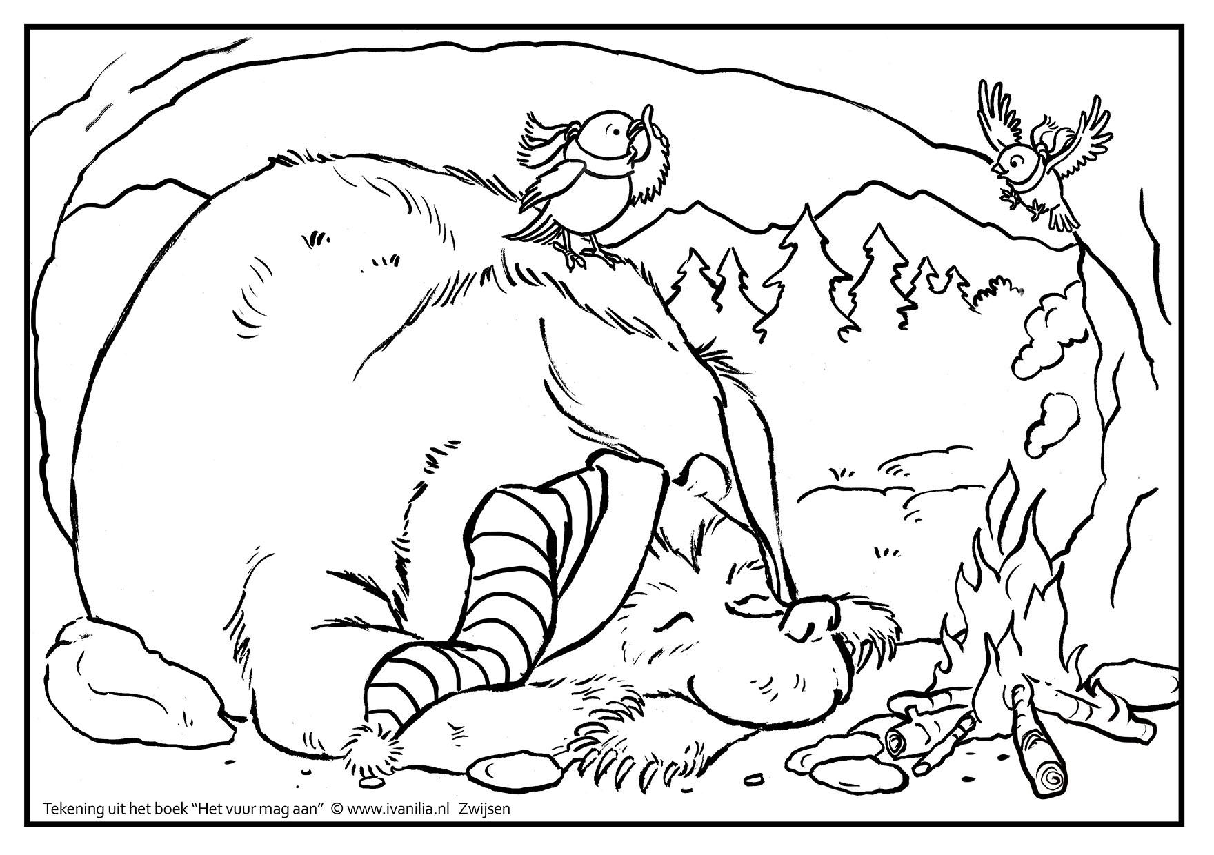Kleurplaat Het Vuur Mag Aan 01 Ivan Ilia Illustraties
