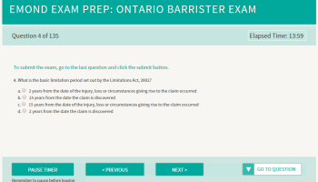 What is it Like to Write a Bar Exam in Ontario