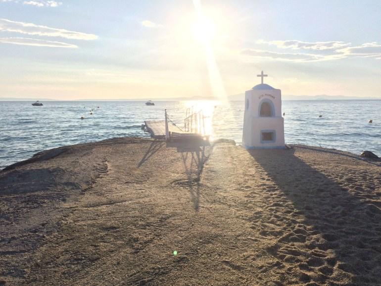 Church monument by Pallini Beach Hotel and Aegean Melathron Thalasso Spa Hotel