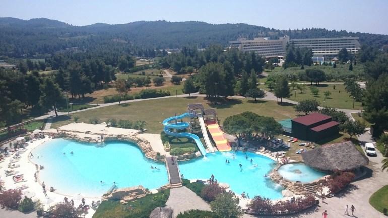 The pools at Porto Carras Sithonia