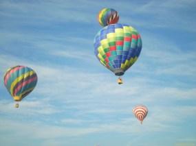 Four Hot Air Balloons in the Air