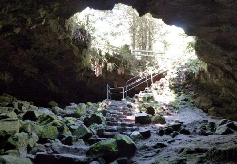 Inside of the Ape Cave