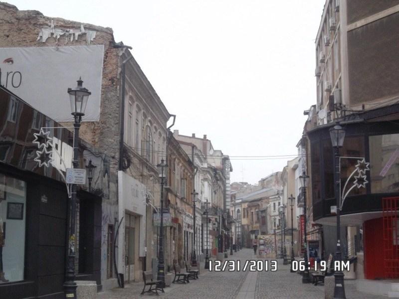 A random street in Bucharest, Romania