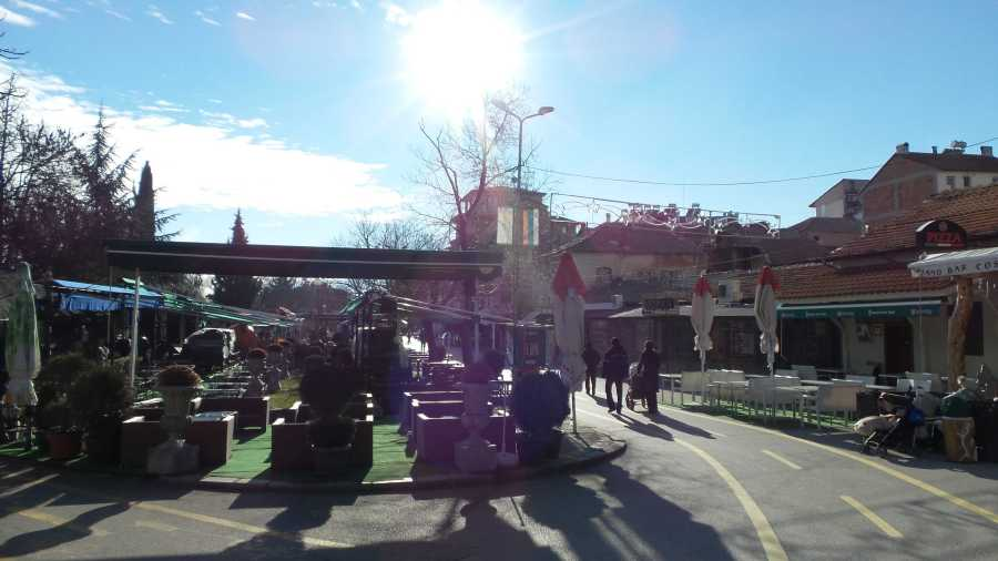 Cafes and restaurants in Sandanski, Bulgaria
