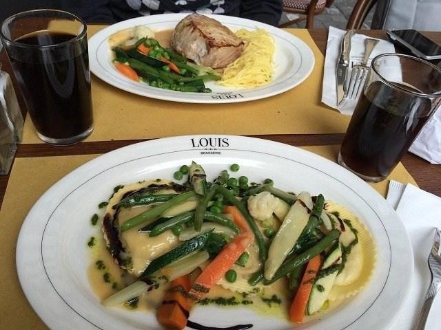 Lunch at Brasserie Louis in Zurich, Switerland