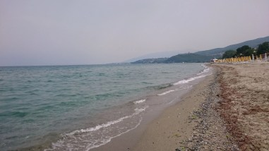 The beach at Litochoro