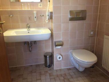 The Bathroom - Second Floor Hallway - Drexel's Parkhotel Review