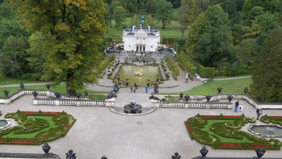 View from Temple of Venus Linderhof Bavarian Castles