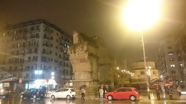 Arch of Galerius in Thessaloniki, Greece at Night