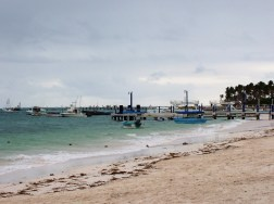Boats at Punta cana in the ocean