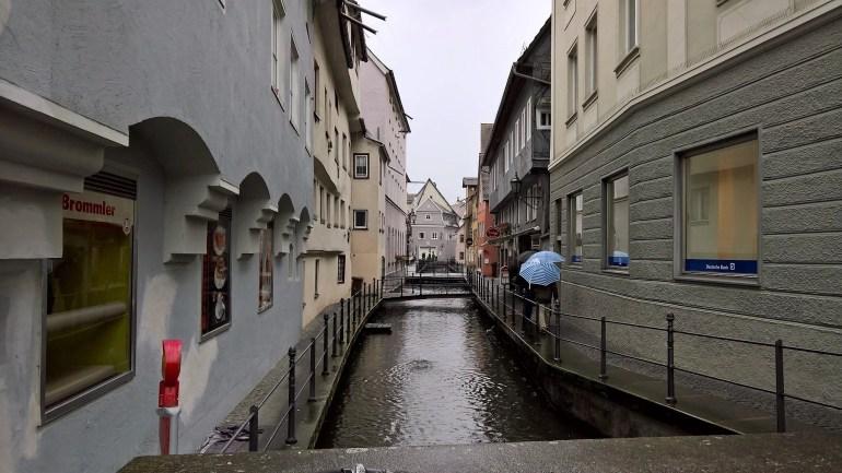 Water Canal in Memmingen, Germany