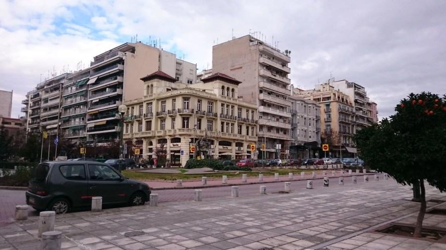 Egnatia Street in Thessaloniki, Greece
