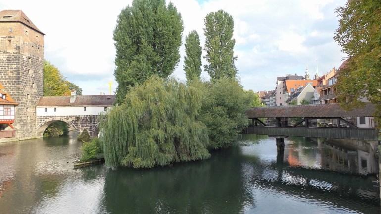 Hangman's Bridge from Maxbrucke in Nuremberg