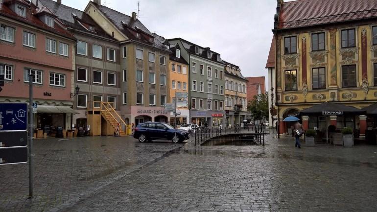 Marketplatz in the Altstad in Memmingen, Germany
