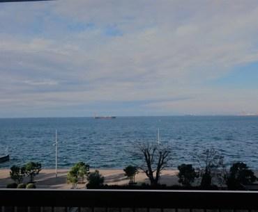 Overlooking the Aegean Sea at the Thessaloniki Port