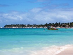 Coast line in punta cana
