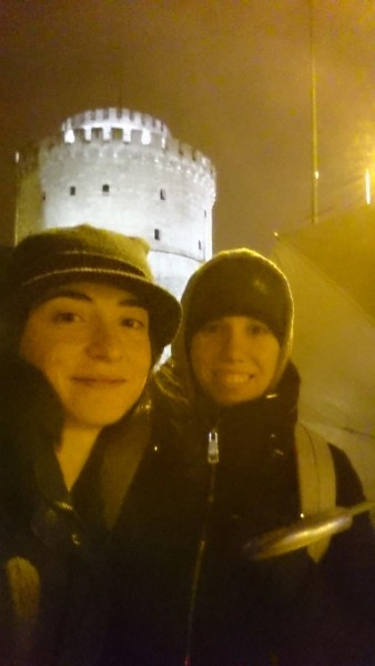 Selfie at the White Tower at night
