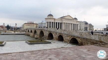 Stone Bridge Skopje Macedonia