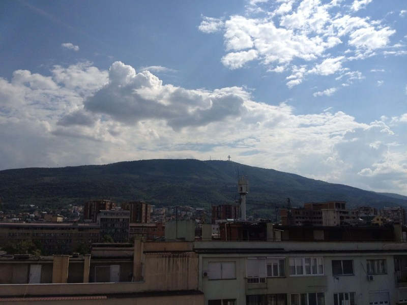 Mount Vodno and the Millenium Cross in Macedonia