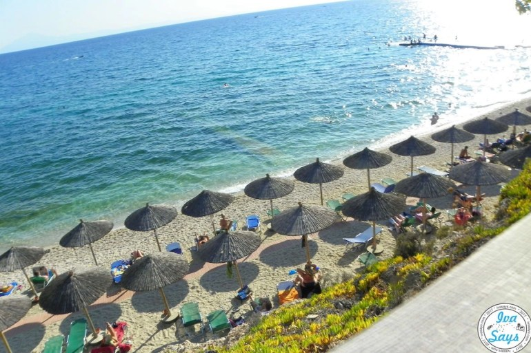 Alexandra Beach on the island Thasos, Greece