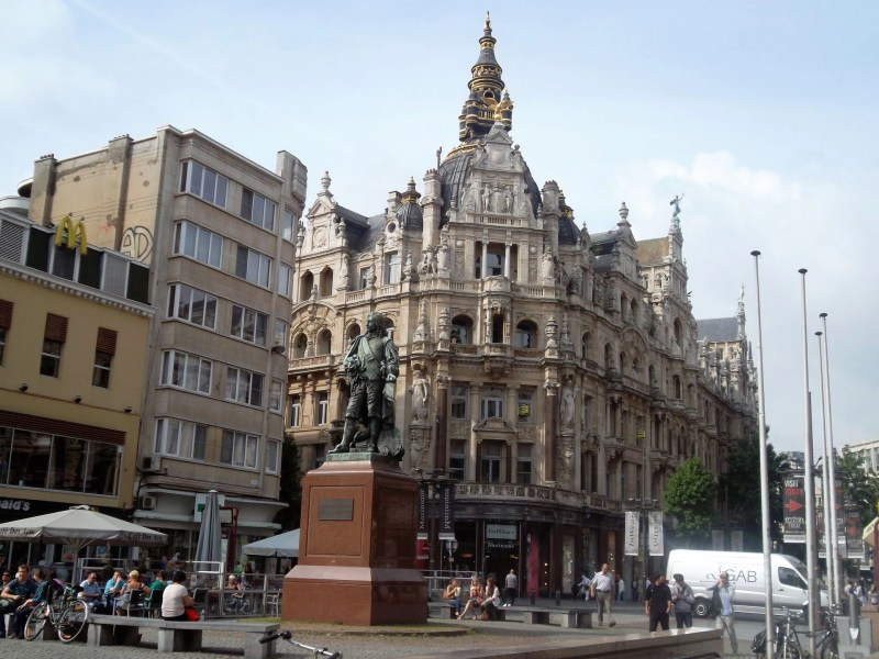 The port city in Belgium, Antwerp, showing off its Renaissance architecture.