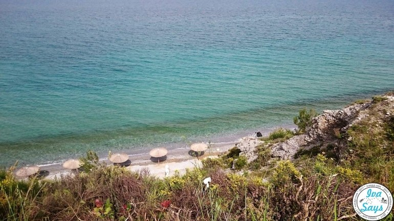 A beautiful beach on the way to Beach toward Castle of Platamonas n Pieria, Greece