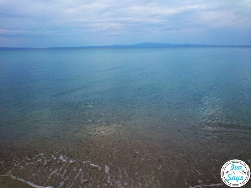 The crystal-clear sea at Pallini Beach Hotel