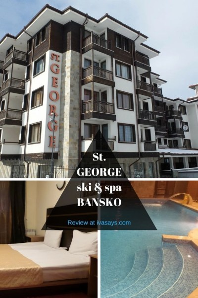 A hotel review of St. George Ski and Spa Hotel in Bansko, Bulgaria. a hotel with the ideal location to the Gondola ski cable car for skiers and with a spa and wellness center for those that love to relax.