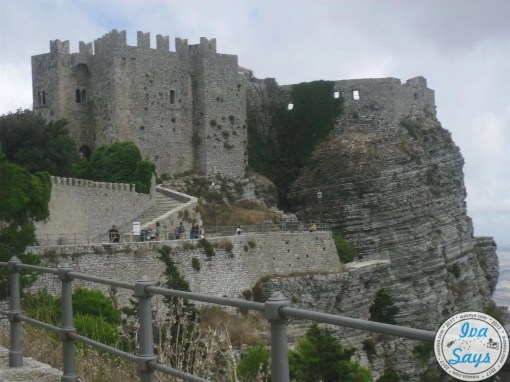 Walking up to the Castle of Venus (Castello di Venero) through the Torretta Pepoli in Erice, Sicily.