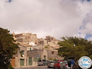 Arriving in the city Erice in Sicily.